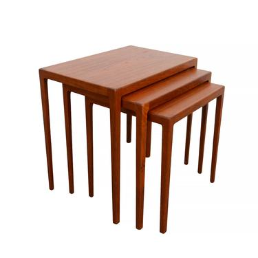 Teak Nesting Tables designed Eske Kristensen Made by Ludwig Pontoppidan by HearthsideHome
