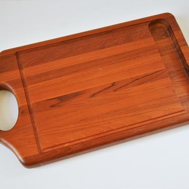 "Massive 23"" Vintage Danish Modern Teak Carving or Cutting Board by Digsmed, Denmark by SourcedModern"