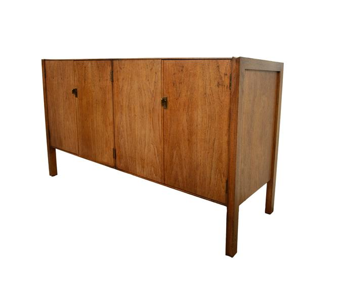 Walnut Credenza Sideboard Founders Furniture Mid Century Modern by HearthsideHome
