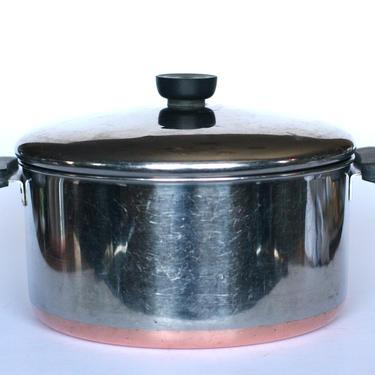 vintage revere ware 4 quart stock pot or dutch oven double ring mark by suesuegonzalas