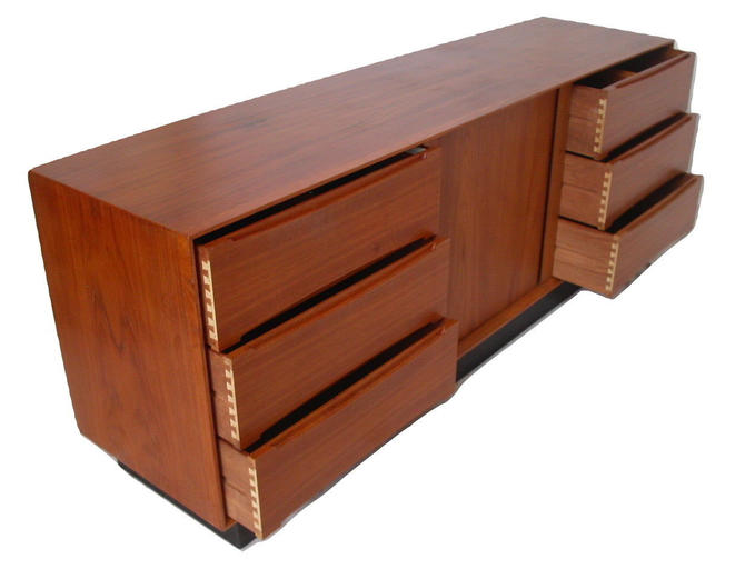 "LARGE High Quality 75"" Long Teak Danish Modern Dresser / Credenza By Dyrlund HQ - Torring, Kibaek by RetroSquad"