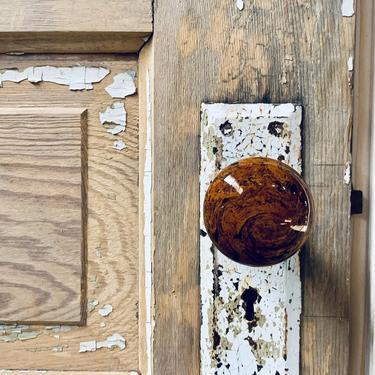 Vintage Bakelite Doorknobs Set of 2 | Reddish Brown Bakelite Knobs | Antique Hardware Door Knobs | Architectural Salvage | Antique Doors by PiccadillyPrairie