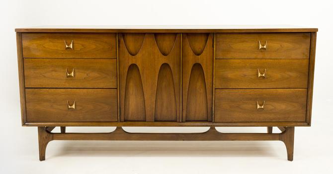 Broyhill Brasilia Mid Century Modern 9 Drawer Lowboy Dresser - mcm by ModernHill