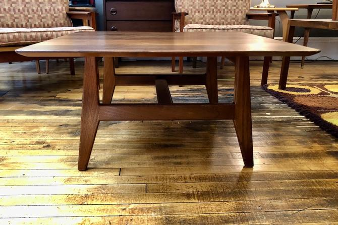 Vintage Jens Risom Square Coffee Table-Newly refinished