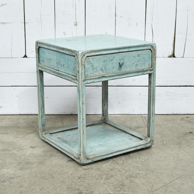 Peking Side Table W/ Drawer - Soft Aqua