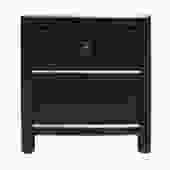 Oriental Distressed Black 1 Drawer End Table Nightstand cs5124S