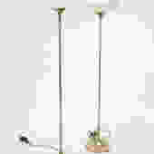pair of Laurel  mushroom floor lamps