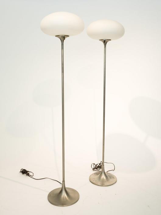 pair of Laurel  mushroom floor lamps