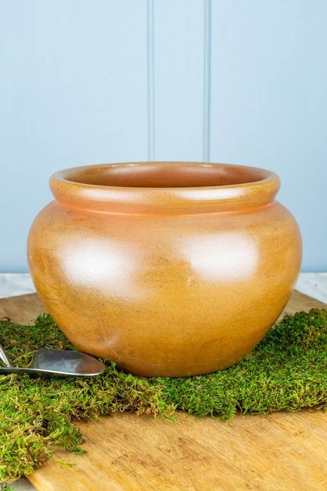Vintage French Stoneware Garden Pot