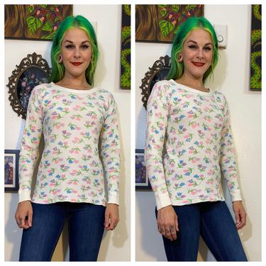 Vintage 1970's Floral Flannel Shirt by SurrealistVintage