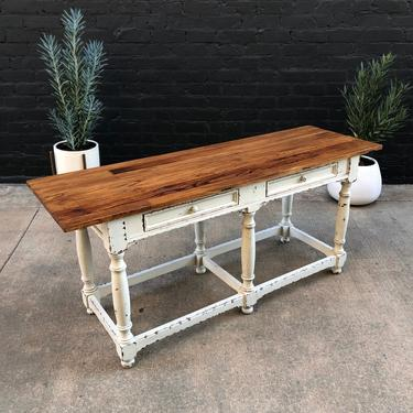 Farmhouse Solid Wood Shaby Chic Console Table by VintageSupplyLA