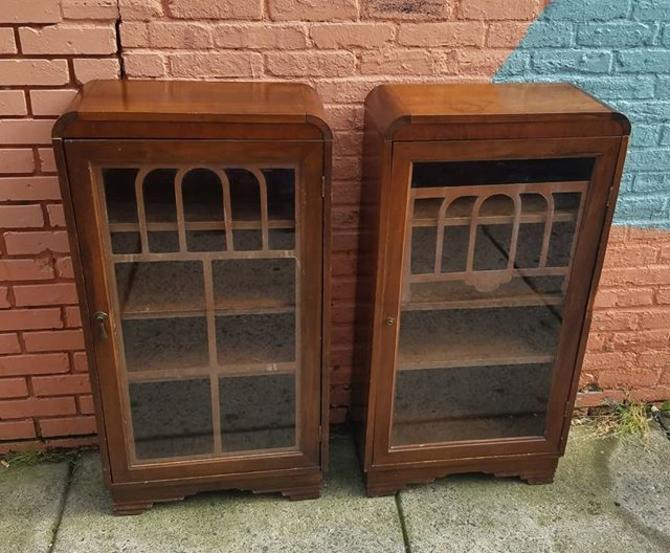 SOLD. Art Deco Bookcases. $319, pair.