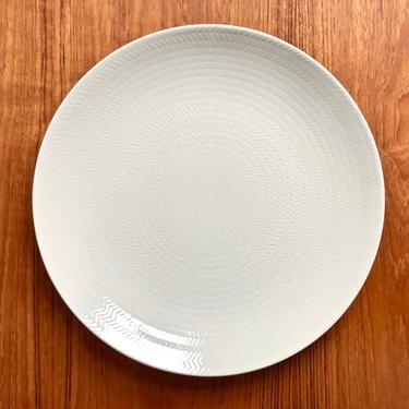 Rörstrand Blå Eld (Blue Fire) platter / large ceramic cake or chop plate / 1950s Swedish china by EarthshipVintage