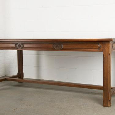 Country French Provincial Farmhouse Trestle Maple Dining Table by StandOutSpaces