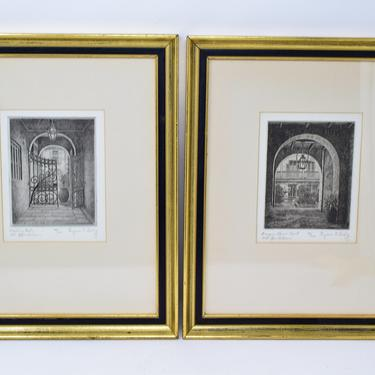 Pair of Vintage Etchings of New Orleans by Eugene Loving by CapitolVintageCharm
