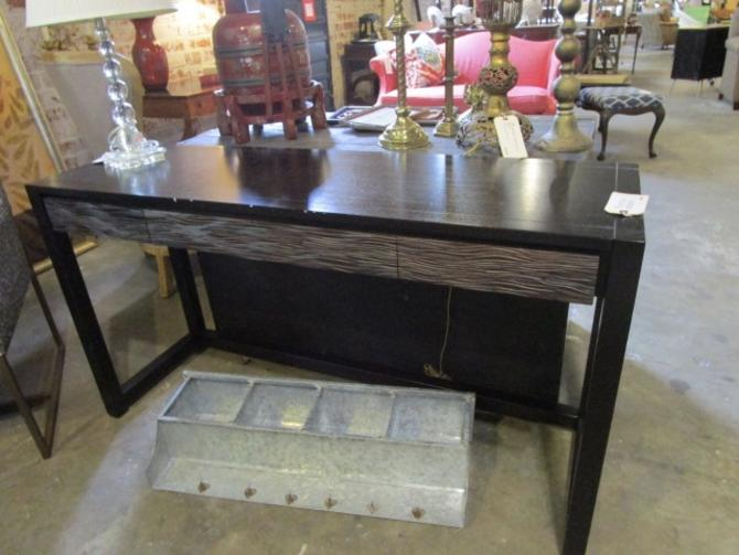 WEST ELM CONSOLE BLACK TABLE