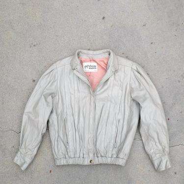 Vintage 80s Women's Sheep Mates Cafe Racer Leather Jacket by circlethesquare
