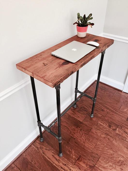 CUSTOM: The EDISON Reclaimed Wood Standing Desk by arcandtimber