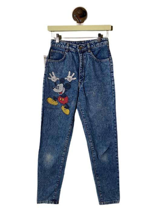 "(26"") Mickey Mouse Blue Denim Pants 022221"