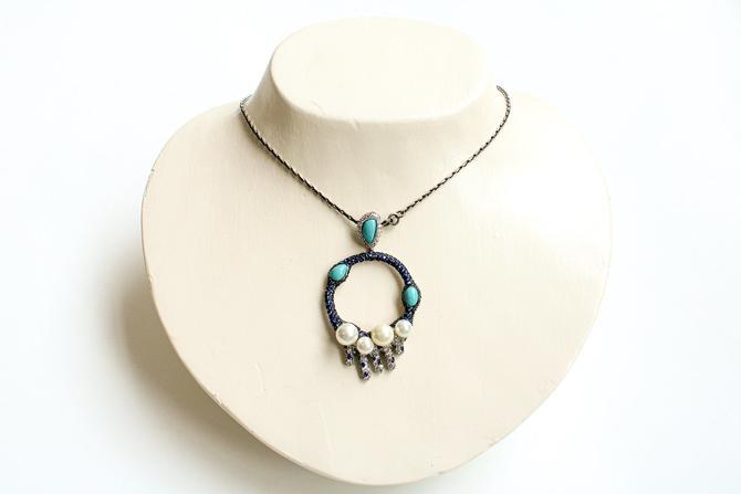Vintage Embellished Pendant Necklace