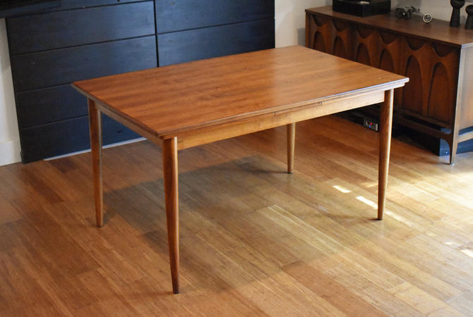 """Newly-restored """"rectangular-ish"""" teak extendable dining table by Moreddi by MidCenturyClever"""