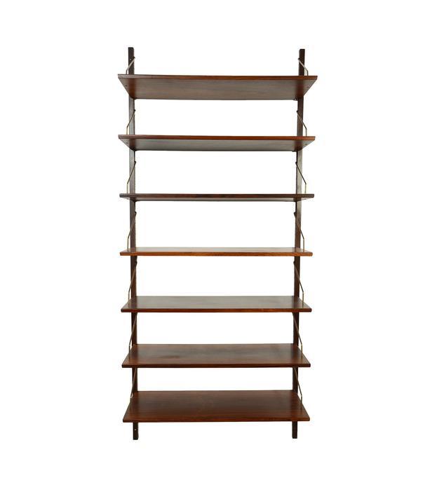 Rosewood Bookcase HG Wall Unit,HG Furniture, Hansen Guldborg Wall Unit  Danish Modern by HearthsideHome