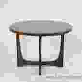 Round Sculptural Style End Table