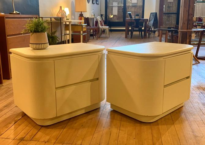 Pair of 80's Nighstands w/ Two Drawers