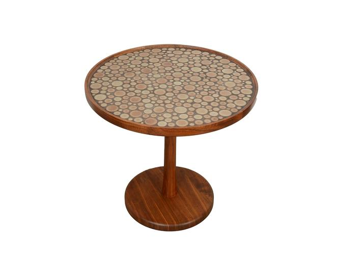 Martz Side Table Ceramic and Walnut Marshall Studios Mid Century Modern by HearthsideHome