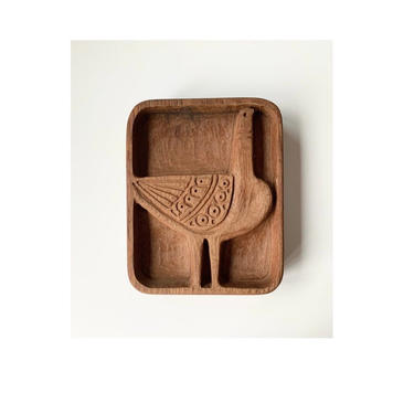 Mid Century Stan Dann Mod Bird Wood Carved Panel by SabineVintageHome