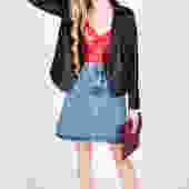Vintage 1990s Denim Skirt by UnfadedEra