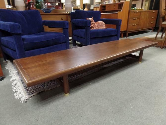 Mid Century Modern Low Profile Walnut Coffee Table From Peg Leg Vintage Attic