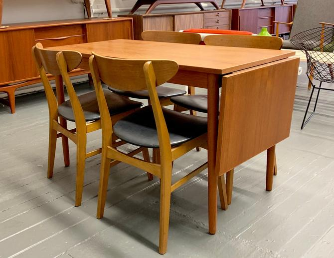 Teak Mid Century Modern Danish Dining Set Expandable Dining Table 4 Dining Chairs By Circa60 From Circa60 Of Weehawken Nj Attic