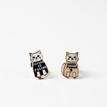 Yellow Owl Workshop - Gurrl Power Earrings