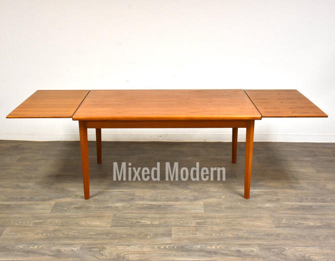 Danish Modern Teak Draw Leaf Dining Table by mixedmodern1