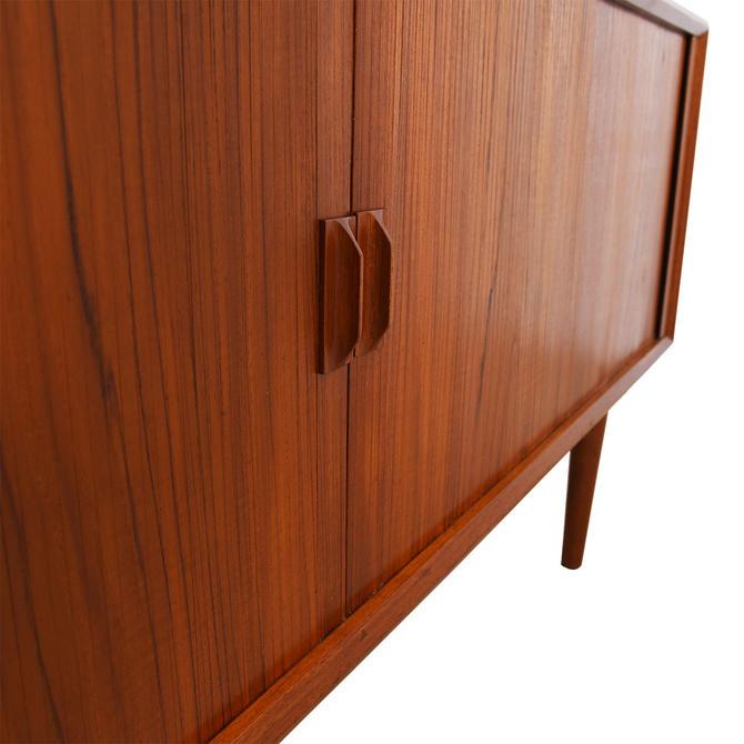 Danish Modern Teak Tambour Door Sideboard / Room Divider