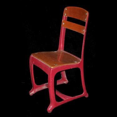 Red American Seating Church/School Chair