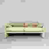 "Vico Magistretti for Cassina Cream Leather ""Maralunga"" Sofa"