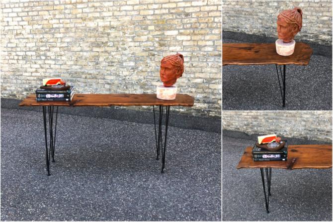 Live Edge Writing Desk-console Table