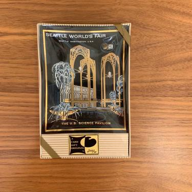Vintage 1962 Seattle World's Fair Smoked Glass Tray in Original Box – Un-Opened!