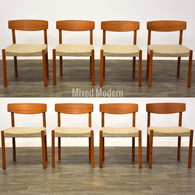 Danish Teak Dining Chairs- Set of 8 by mixedmodern1