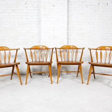 Vintage set of 4 windsor captain dining chairs   Free shipping ONLY in NYC area by OmasaProjects