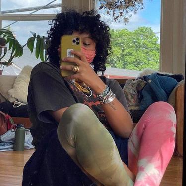 Matcha Tie Dye Tights by shopjournal