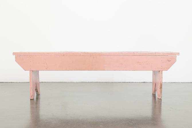 Pink Handmade Bench by HomesteadSeattle