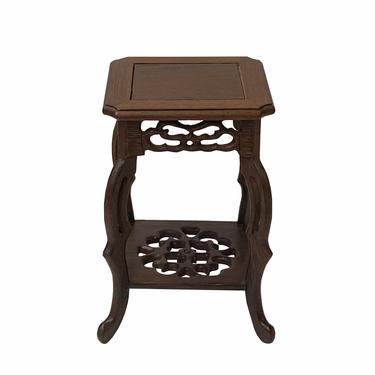 """Chinese Brown Wood Square Tall Table Top Stand Display Easel 3"""" ws1615DE by GoldenLotusAntiques"""