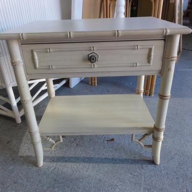 Faux Bamboo Fretwork Nightstand