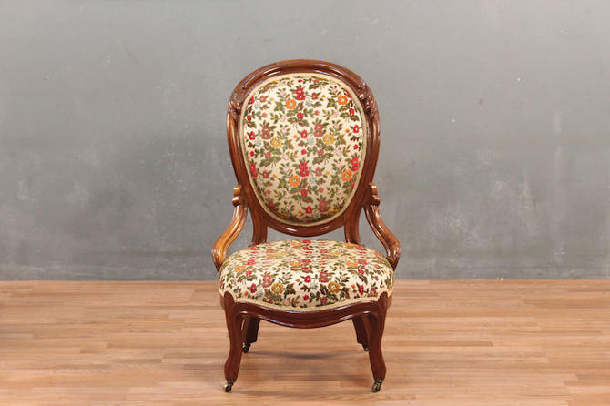 Victorian Wildflowers Accent Chair