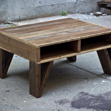 Reclaimed Wood Cubby Coffee Table by EvansWoodshopDesign