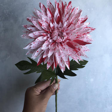 Crepe Paper Speckled Dahlia -- Paper Flowers for Weddings - Home Decor - Baby Showers - Wholesale by ReveryPaperFlora