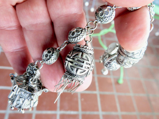 Silver Filigree Charm Bracelet by LegendaryBeast